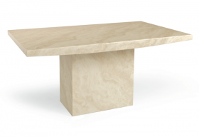 Crema Marble Effect Dining Table