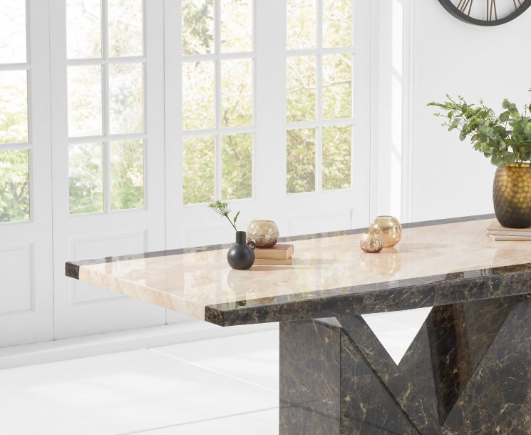 Tenore 220cm Marble Effect Dining Table