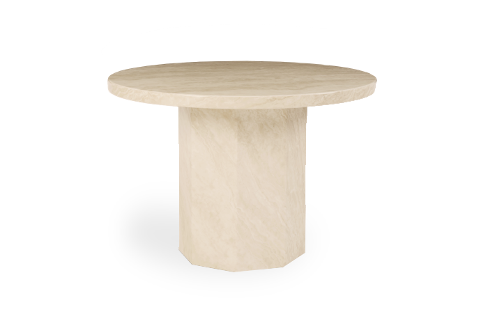 Crema Round Marble Effect Dining Table