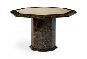 Tenore Octagonal Marble Effect Dining Table