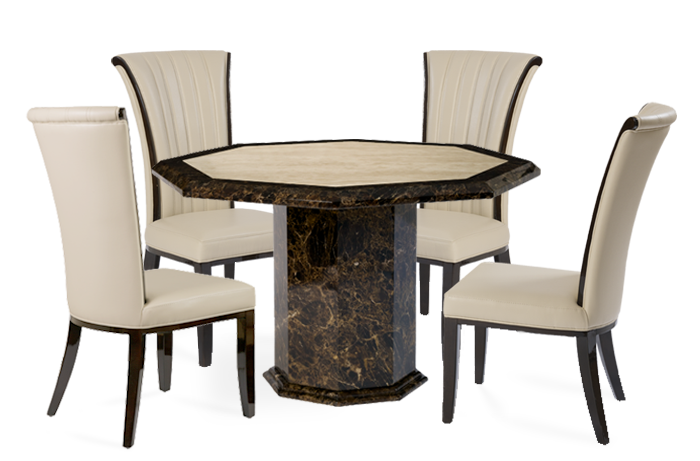 Marvelous Tenore Octagonal Marble Effect Dining Table With Alpine Chairs Gamerscity Chair Design For Home Gamerscityorg