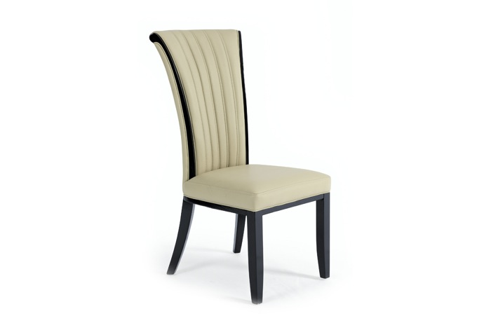 Alpine Cream Leather Dining Chair