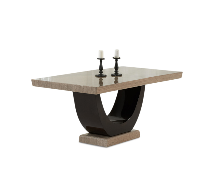Rezzato 170cm Brown Pedestal Marble Dining Table