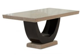 Raphael 170cm Brown Pedestal Marble Dining Table