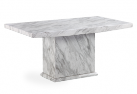 Calacatta 160cm Marble Effect Dining Table