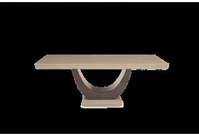 Raphael 200cm Brown Pedestal Marble Dining Table