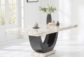 Raphael Cream Pedestal Marble Dining Table