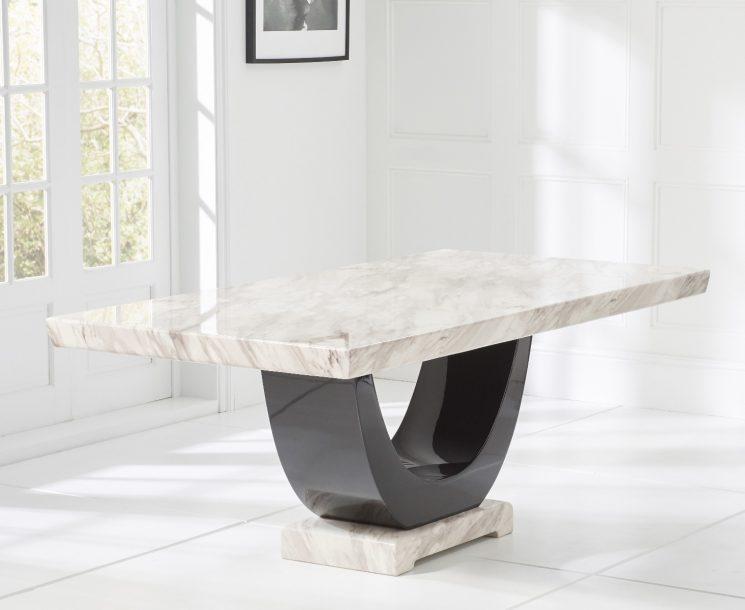 Raphael Cream Pedestal Marble Dining Table