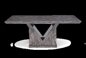 Mocha 180cm Grey Marble Dining