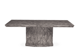 Carvelle 200cm Grey Pedestal Marble Dining Table