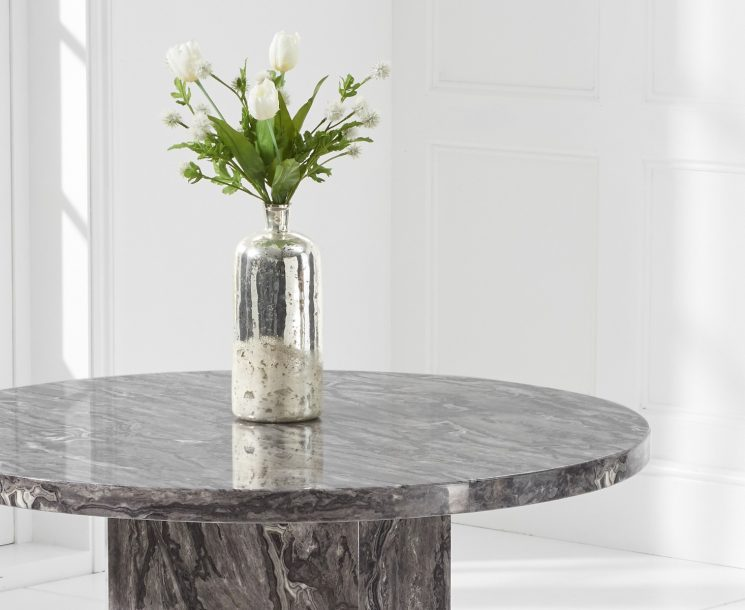 Crema Grey Round Marble Dining Table