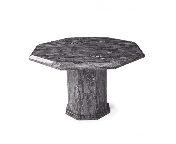Crema Grey Octagonal Marble Effect Dining Table