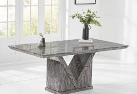 Mocha Grey Marble Dining Table