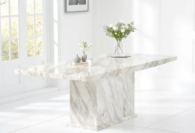 Calacatta Marble Effect Dining Table