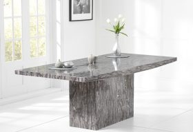 Crema 160cm Grey Marble Dining Table
