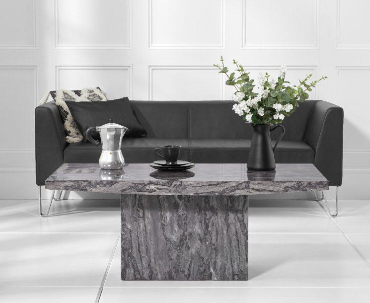Crema Grey Marble Coffee Table Lifestyle