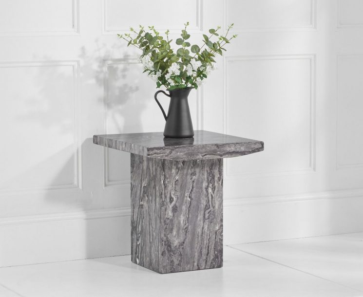 Crema Grey Marble Side Table