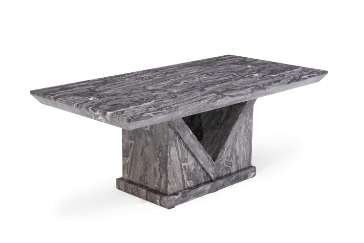 Mocha Grey Marble Coffee Table