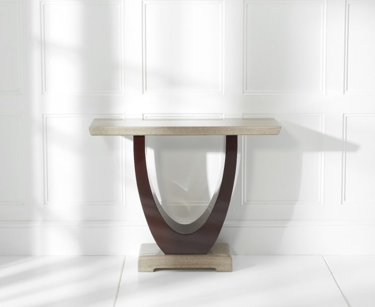 Raphael Brown Marble Console Table