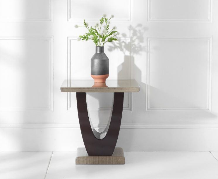Raphael Brown Marble Side Table