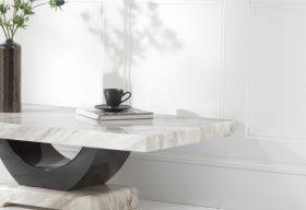 Raphael Cream Marble Coffee Table Lifestyle