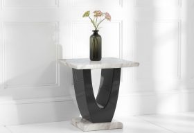 Raphael Cream Marble Side Table