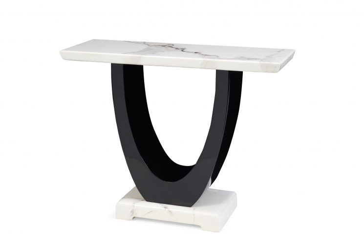 Raphael White Marble Console Table