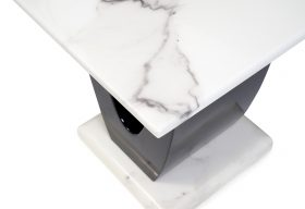 Raphael White Marble Side Table