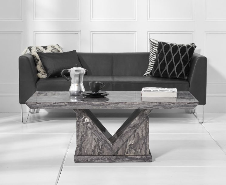 Mocha Grey Marble Coffee Table Lifestyle