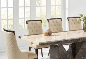 Tenore 220cm Marble Effect Dining Table with Angelica Chairs